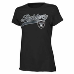 Oakland Raiders Girls Glitter Land Tee
