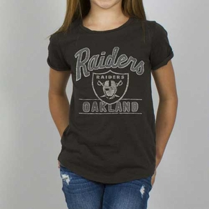 Oakland Raiders Girls Kick Off Crew Tee - Click to enlarge