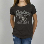 Oakland Raiders Girls Kick Off Crew Tee