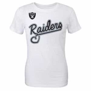 Oakland Raiders Girls Loops and Hoops Tee - Click to enlarge