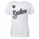 Oakland Raiders Girls Loops and Hoops Tee