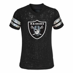 Oakland Raiders Girls Opal Burnout Tee