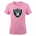 Oakland Raiders Girls Pink Logo Tee