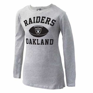 Oakland Raiders Girls Standard Issue Long Sleeve Tee - Click to enlarge