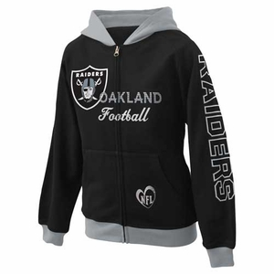 Oakland Raiders Girls Zip Up Hood - Click to enlarge