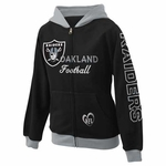 Oakland Raiders Girls Zip Up Hood
