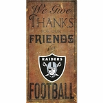 Oakland Raiders Give Thanks Wooden Sign