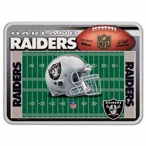 Oakland Raiders Glass Cutting Board - Click to enlarge