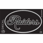 Oakland Raiders Glitter Cursive Oval Decal