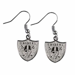 Oakland Raiders Glitter Dangle Earrings