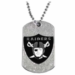 Oakland Raiders Glitter Dog Tag
