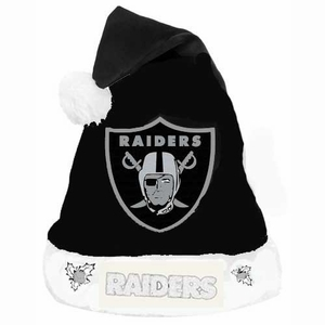 Oakland Raiders Glitter Logo Santa Hat - Click to enlarge