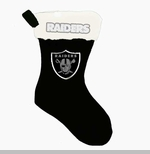 Oakland Raiders Glitter Logo Stocking