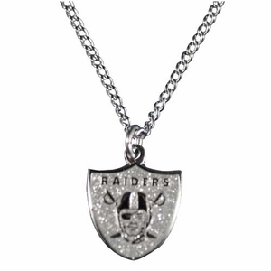 Oakland Raiders Glitter Pendant - Click to enlarge
