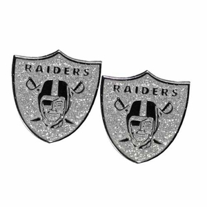 Oakland Raiders Glitter Post Earrings - Click to enlarge