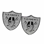 Oakland Raiders Glitter Post Earrings