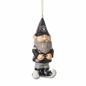 Oakland Raiders Gnome Ornament - Click to enlarge