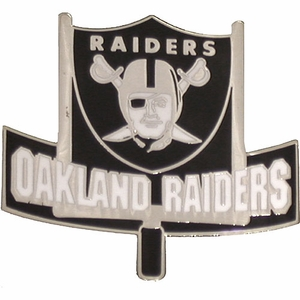 Oakland Raiders Goal Post Lapel Pin - Click to enlarge