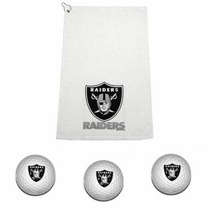 Oakland Raiders Golf Gift Set - Click to enlarge