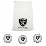 Oakland Raiders Golf Gift Set