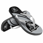 Oakland Raiders Grey Logo Flip Flop