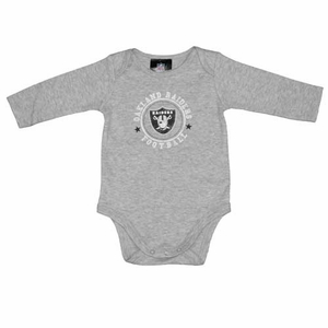 Oakland Raiders L/S Grey Bodysuit - Click to enlarge