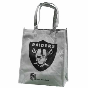Oakland Raiders Grey Reusable Bag - Click to enlarge