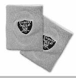 Oakland Raiders Grey Wristband