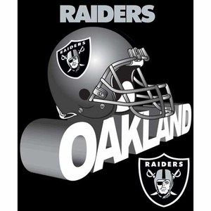 Oakland Raiders Grunge Micro Raschel Throw - Click to enlarge