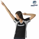 Oakland Raiders Hands High Womens Sideline Tee