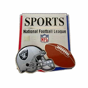 Oakland Raiders Headline News Lapel Pin - Click to enlarge
