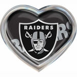 Oakland Raiders Heart Chrome Emblem