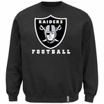 Oakland Raiders Heavyweight Black Crew Fleece