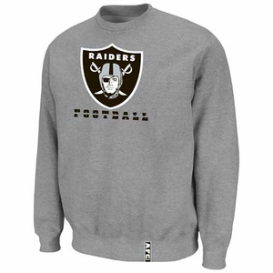 Oakland Raiders Heavyweight Crew V Steel Fleece - Click to enlarge
