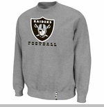 Oakland Raiders Heavyweight Crew V Steel Fleece