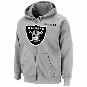 Oakland Raiders Heavyweight V Full Zip Fleece - Click to enlarge