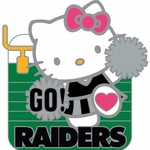 Oakland Raiders Hello Kitty Cheer Lapel Pin