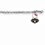 Oakland Raiders Hello Kitty Football Bracelet