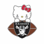 Oakland Raiders Hello Kitty Football Lapel Pin