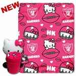 Oakland Raiders Hello Kitty Hugger with Fleece