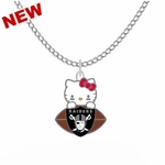 Oakland Raiders Hello Kitty Necklace
