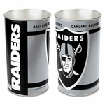 Oakland Raiders 15 Inch Tapered Wastebasket