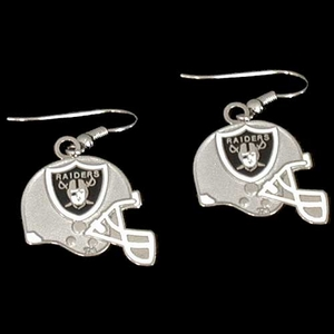 Oakland Raiders Helmet Dangle Earrings - Click to enlarge