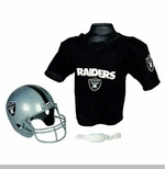 Oakland Raiders Helmet & Jersey Set