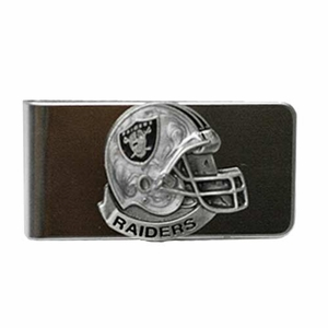Oakland Raiders Helmet Pewter Money Clip - Click to enlarge