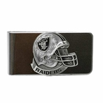 Oakland Raiders Helmet Pewter Money Clip