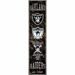 Oakland Raiders Heritage Banner Wooden Sign