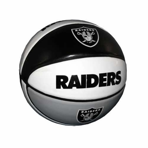 Oakland Raiders Hi-Gloss Basketball - Click to enlarge