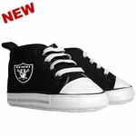 Oakland Raiders Hi Top Infant Shoes