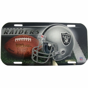 Oakland Raiders High Definition License Plate - Click to enlarge